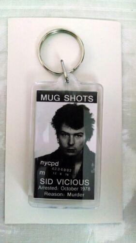 Sid Vicious Mugshot Keychain 1978