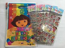 SPECIAL OFFER: 10 Party Bag + 10 Sheet Stickers - Dora The Explorer Girls Party