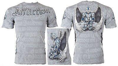 AFFLICTION Mens T-Shirt KNIGHTHOOD Tattoo Fight Biker Gym MMA UFC S-4XL $66 b
