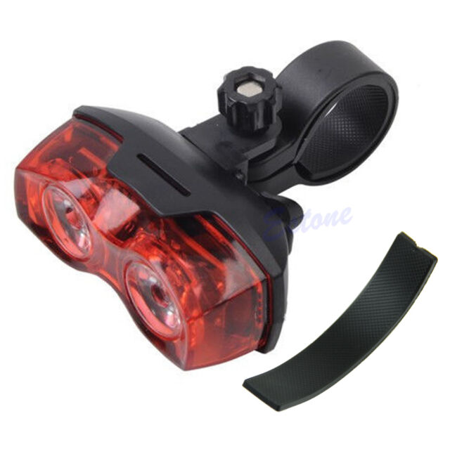 Bright Bike Cycling Bicycle  2 LED Flashing Light Lamp Back Safety Rear Tail New