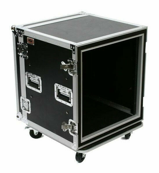 OSP 20 Space ATA-style Amp 20U Effects Studio Rack Case w//Caster Wheels