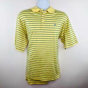 Polo-Golf-Mens-Shirt-Size-XL-Yellow-Stripe-Cotton