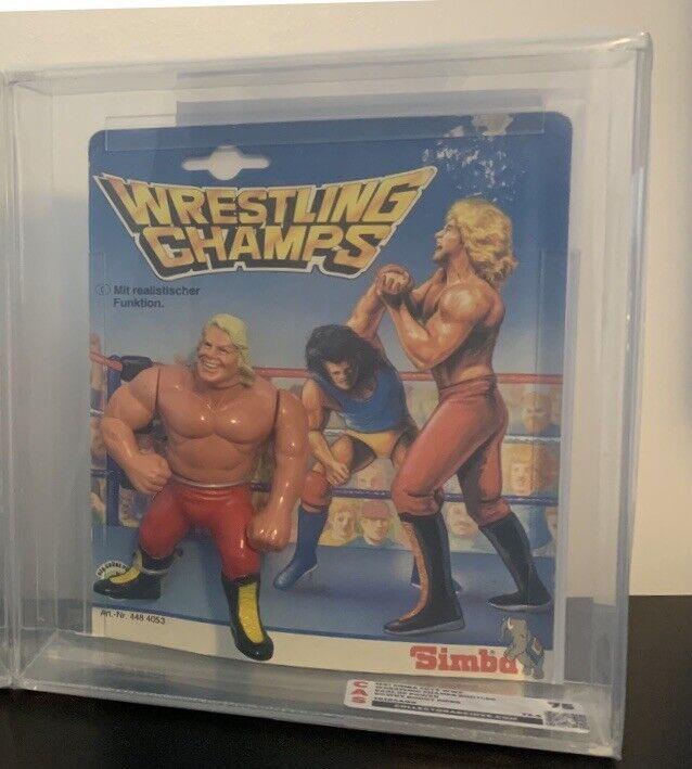 MOC WWF Hasbro   Simba Wrestling Champs Earl Of Power (Roddy Piper) CAS 75