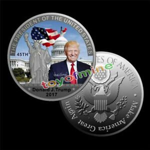 American-45th-President-Donald-Trump-Silver-Coin-US-White-House-Coin-Collection