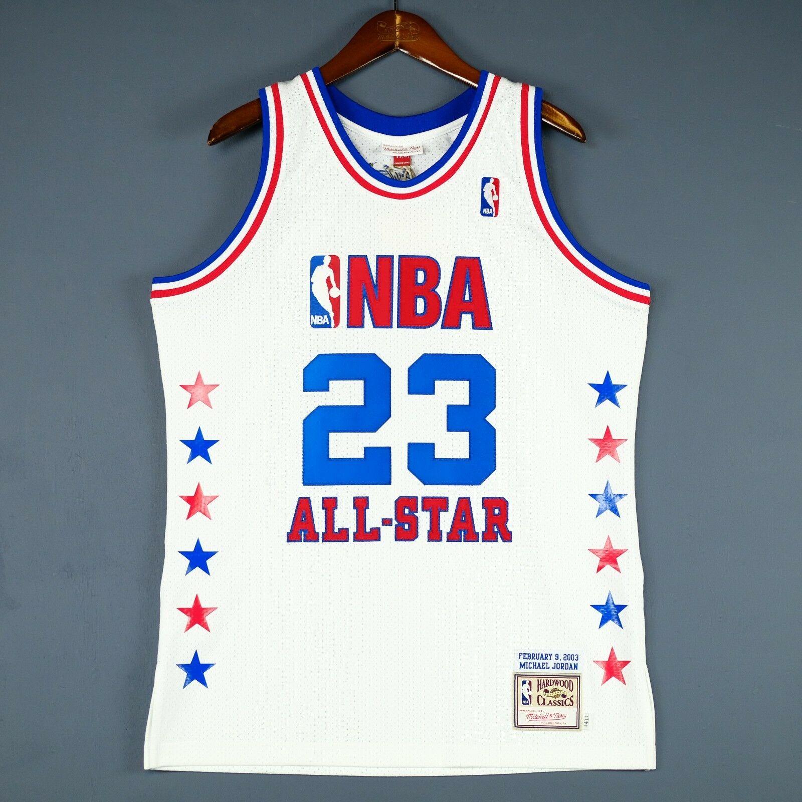 new arrival af1c7 df482 100 Authentic Mitchell & Ness 2003 Michael Jordan All Star Jersey Size 44 L