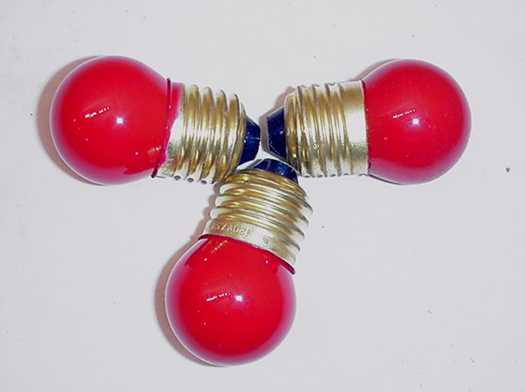 THREE LARGE MARTINI LAMP REPLACEMENT RED PIMENTO LIGHT BULBS