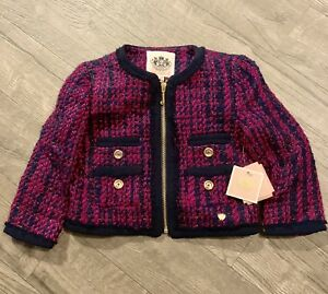Outerwear Lovely Vhtf Girls Juicy Couture Crushed Berry Jacket Blazer ~ Size 2/3 ~ Nwt $188 Comfortable And Easy To Wear