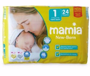 Aldi mamia new born size 1 nappies 144 pack 2 5kg 4 11lbs 6x 24 pack anti leak ebay - Couche pampers en gros allemagne ...