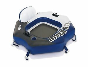 Intex-58854EP-River-Run-Connect-Lounge-Inflatable-1-Person-Floating-Tube-Blue