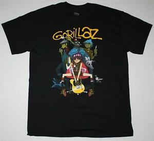 GORILLAZ-BAND-ALTERNATIVE-HIP-HOP-ROCK-BRIT-BAND-BLUR-ALBARN-NEW-BLACK-T-SHIRT