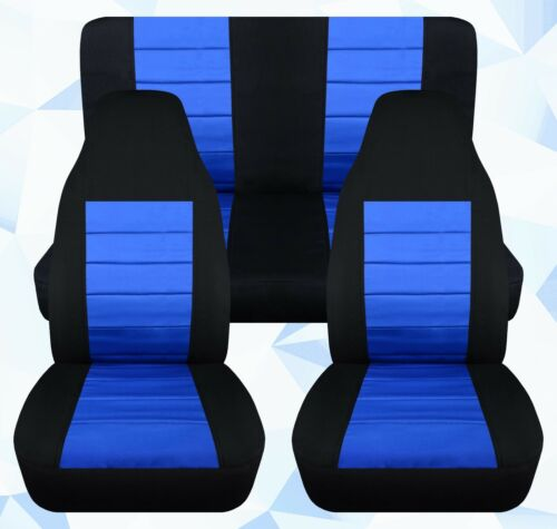 Fit Jeep wrangler YJ-TJ-LJ Front+Back CAR SEAT COVERS cotton color combination