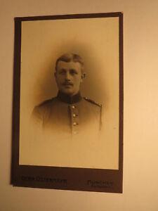 Munich-soldat En Uniforme-portrait/cdv-afficher Le Titre D'origine Valeur Formidable