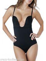 Dc Dr Rey 32b Xtreme Plunge Bodysuit Built-in Uw Bra (shape 71) Black $40