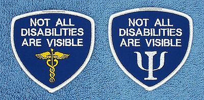 NOT ALL DISABILITIES ARE VISIBLE SERVICE DOG PATCH 3X3 Danny & LuAnns Embroidery