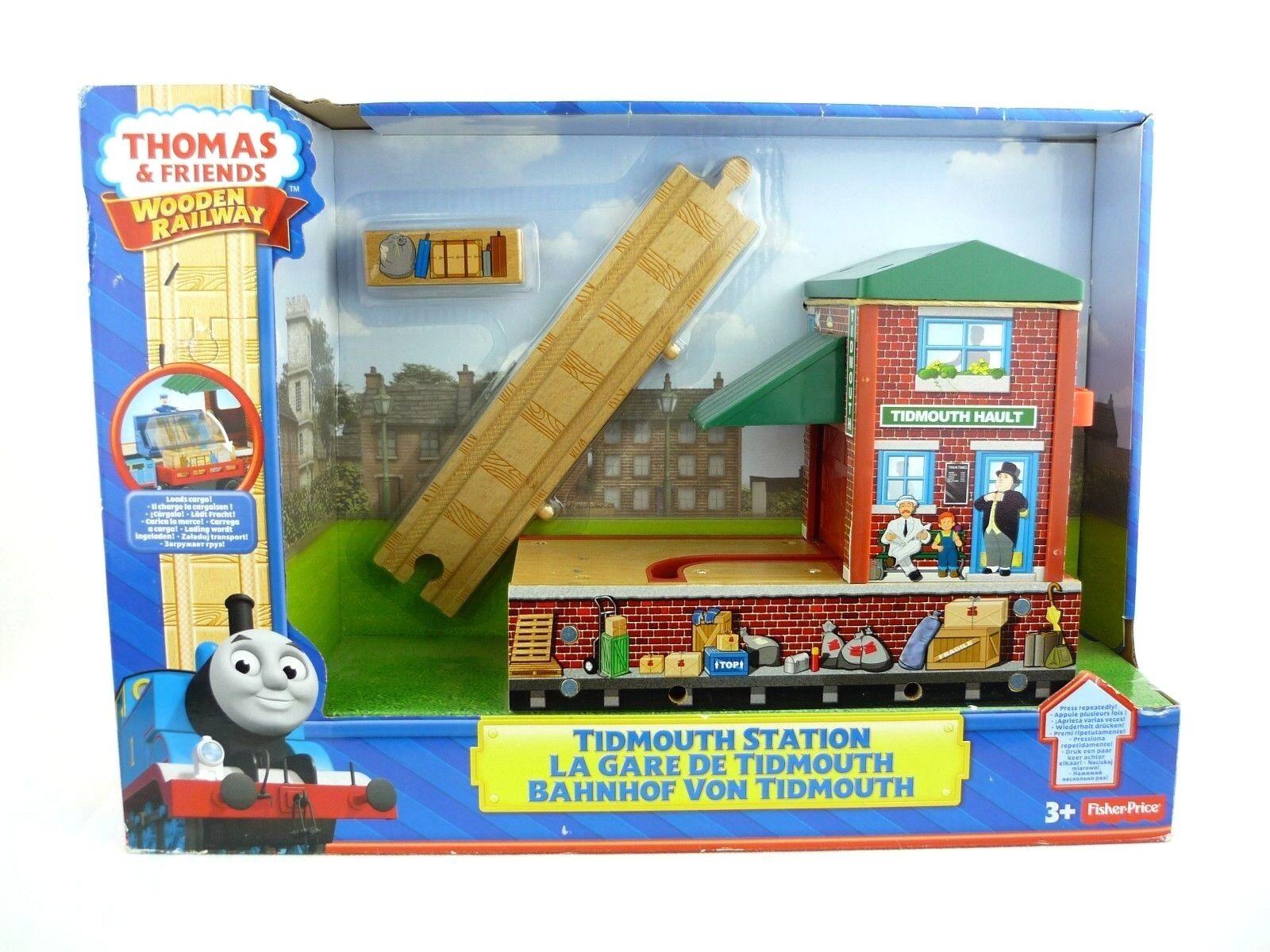 Thomas & Friends Wooden Railway Bahnhof von Tidmouth Spielset BDG09