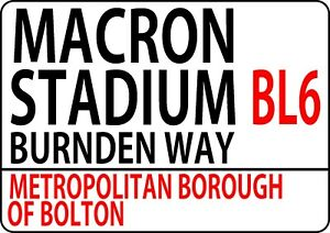 Bolton wanderers Metal Street Sign Football Teams Wall Door Plaque Sign 1109
