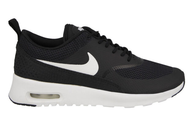 a9fdf3781e221 Nike Air Max Thea Womens Size 10 Running Shoes Black White 599409 ...