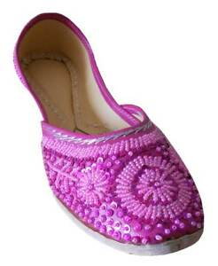 Women-Shoes-Indian-Traditional-Bridal-Pink-Oxfords-Jutties-UK-1-5-9-5-EU-34-44