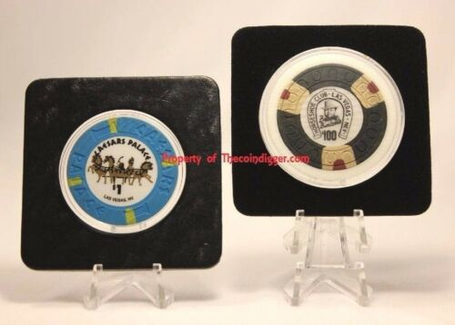 2 Display Stand Easel for Coin Slab Proof Set Mint Set Stands Air-tite CLEAR