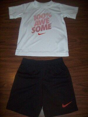 NeW nwt boys size sz 12 months NIKE BaSketBaLL shorts shirt~2pc set black green