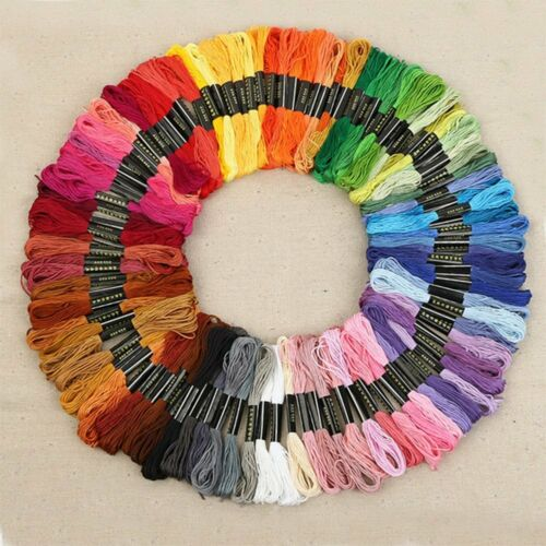 1 of 1 - 50 Color Egyptian Cross Stitch Cotton Sewing Skeins Embroidery Thread Floss AU
