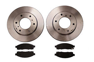 QUALITY FRONT BRAKE DISCS /& PADS for MITSUBISHI L200 KB4T 2.5 DID 2006-2016