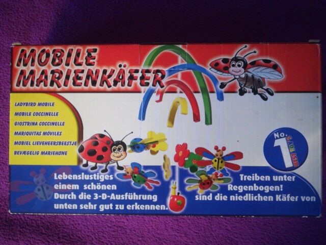 Mobile Marienkäfer Holz 3d Optik Bemalt
