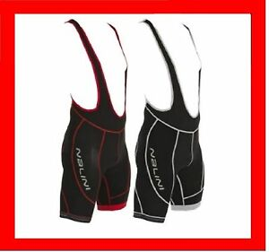 Nalini-Light-Compression-Pro-Cycle-Race-Bibs-Shorts-Black-Red-White-Mens-Large