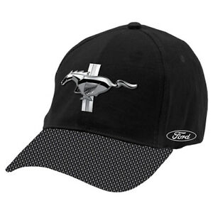 Ford-Mustang-Baseball-Hat-Cap-metal-badge-front-Embroidered-logo-on-side-Gift