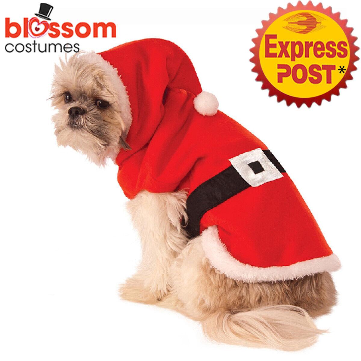 LPC3 Santa Claus Merry Christmas Puppy Outfit Pet Xmas Dog Costume Clothes Coat
