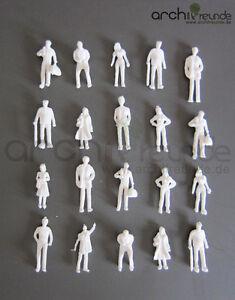 100x-Modele-Figurines-blanc-non-peinte-pour-modelisme-1-75-Maquette-de-train