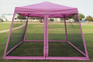 8u0027x8u0027/10u0027x10u0027 Pop Up Canopy Party Tent Gazebo EZ w Net - 6 Colors Available & 8u0027x8u0027/10u0027x10u0027 Pop Up Canopy Party Tent Gazebo EZ w Net -