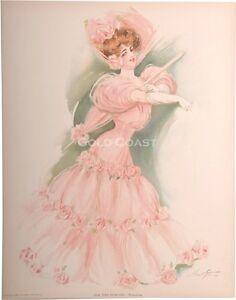 Chromolithograph New York Show Girl 1907 Victorian Color Litho Print Casino