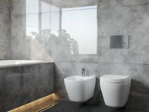 Grey High Gloss Porcelain Tiles 80x80