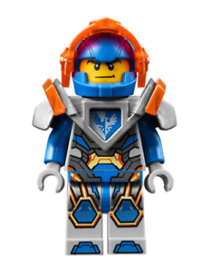 Lego-Clay-70351-70353-Trans-Neon-Orange-Visier-Nexo-Ritter-Minifigur