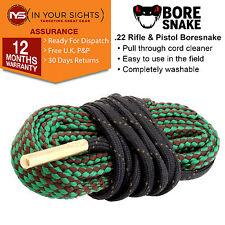 .22 & 5.56m Calibro Fucile Bore Snake Barrel Kit di pulizia pulitore Corda Boresnake