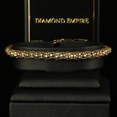 Kenntnisreich Armband 5 Mm Damen Herren 750er Gold 18 Karat Vergoldet Gelbgold B1448s