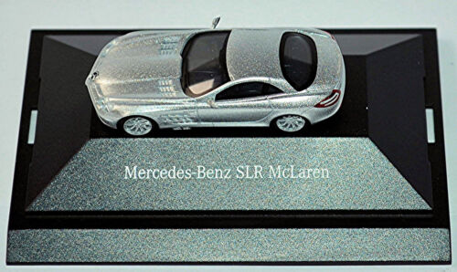 MERCEDES Benz SLR McLaren COUPE 2003-09 ARGENTO SILVER METALLIZZATO 1:87 Herpa