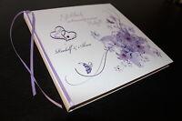 Hardcover Gästebuch zur Hochzeit , lila
