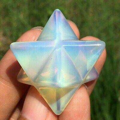 Amazonite quartz Merkaba Star Crystal quartz Hand Carved realistic Healing 5PCS