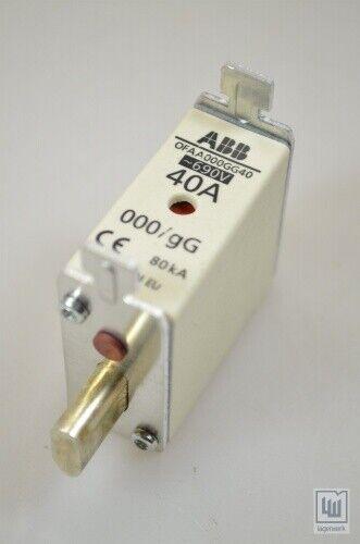 ABB ofaa 000gg40 fuse, nh000, 40a, GG (1pe = 3 stk