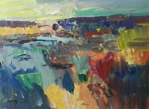 JOSE-TRUJILLO-ART-Oil-Painting-Expressionist-Impressionism-Palette-Knife-Impasto