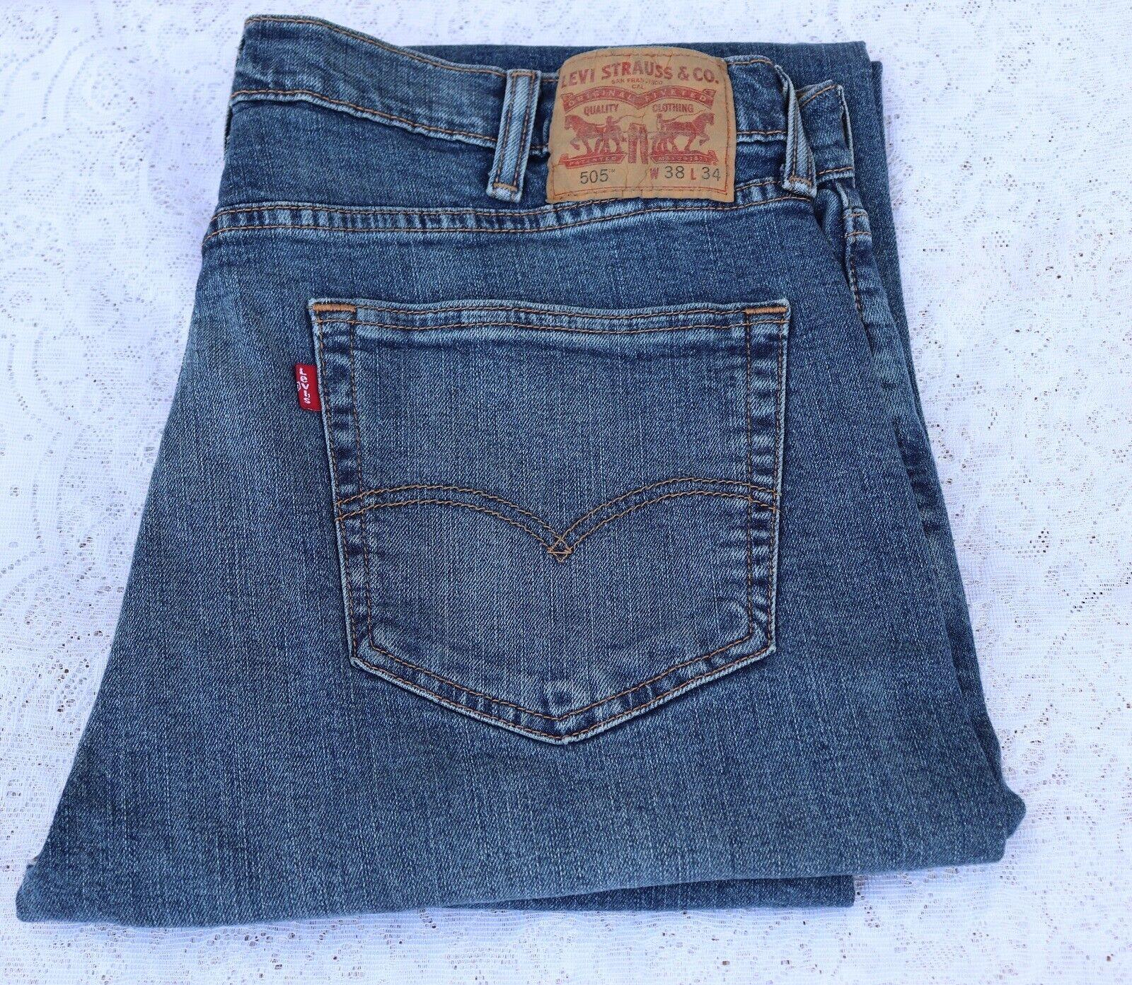 f14c81ddaa5 Levi's Men's 505 Original Fit Jeans Straight Leg Zip Fly 100 Cotton ...
