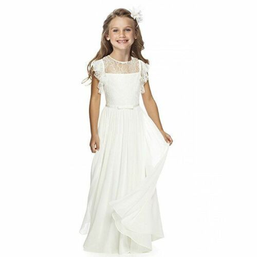 Flower Girl First Communion Pageant Wedding Lace Birthday Dress