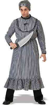 Psycho Norman Bates Mother Old Woman Fancy Dress Up Halloween Adult Costume