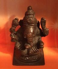 Beautiful Hollow Cast Bronze Figure Of The Hindu God Ganesha 8cm High (907)