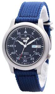 Seiko-5-Military-Automatic-Nylon-Strap-SNK807K2-Men-039-s-Watch