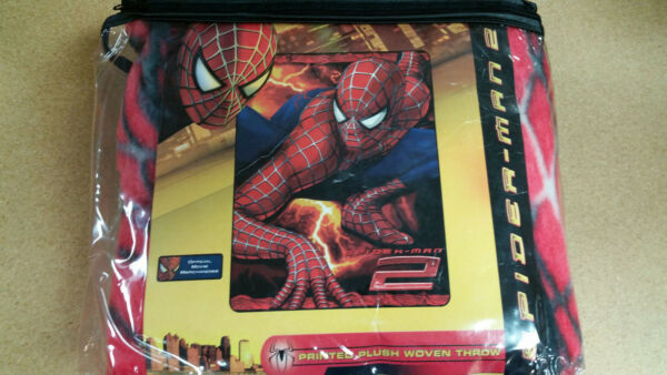 Teder Brand New Spiderman Twin Size Throw 60x80 Blanket Matching In Kleur