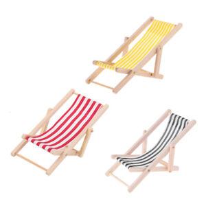 Admirable Details About 1 12 Dollhouse Beach Furniture Foldable Deckchair Lounge Chair Stripe 3Pcs Creativecarmelina Interior Chair Design Creativecarmelinacom