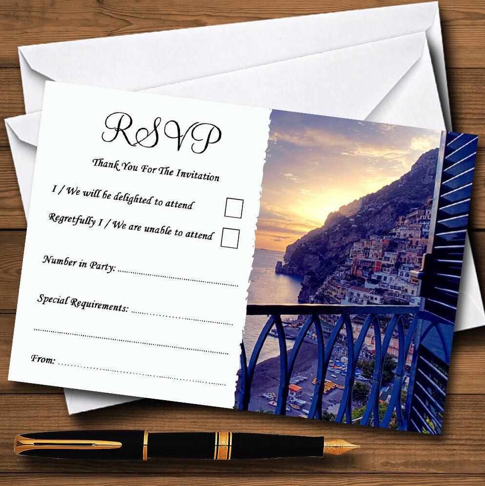 Il AMARIGE ITALIA personalizzato matrimonio matrimonio matrimonio o partito RSVP CARDS 5d5d35